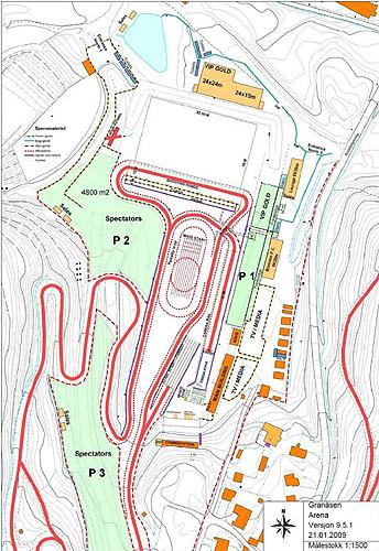 Схема трассы и биатлонного