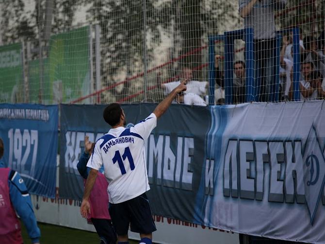 Йован Дамьянович -- второй в истории белорусского футбола нерезидент СССР, которому удалось отметиться хет-триком