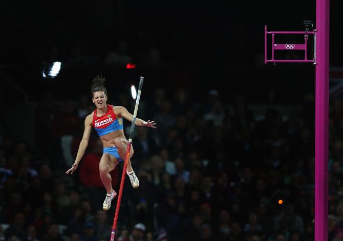 Елена Исинбаева, прыжки с шестом, Лондон-2012, Евгений Трофимов