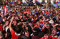 Чили празднует победу в Кубке Америки