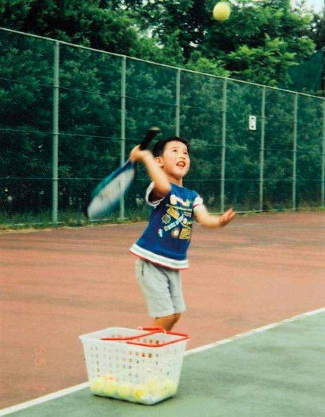 Tennis ulduzları uşaqlıqda (qalereya)