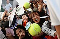 Ана Иванович, Рафаэль Надаль, Новак Джокович, фото, болельщики, Андреа Петкович, China Open, Эжени Бушар, Wuhan Open