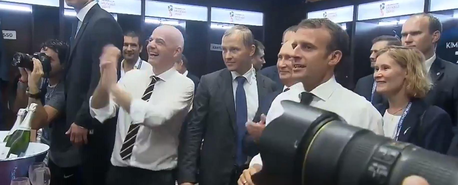Футболисты сборной Франции посвятили Путину кричалку