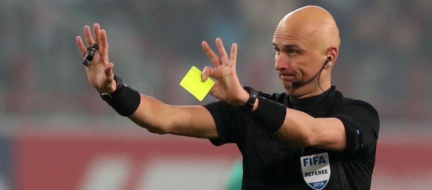 Судья Карасев дает 4,67 карточки за матч. Это второй показатель среди арбитров Евро-2020