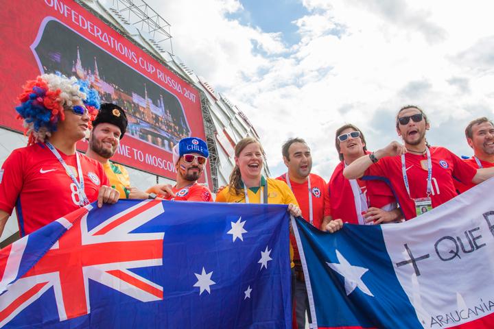 сборная Австралии, Кубок конфедераций, сборная Чили, болельщики, фото