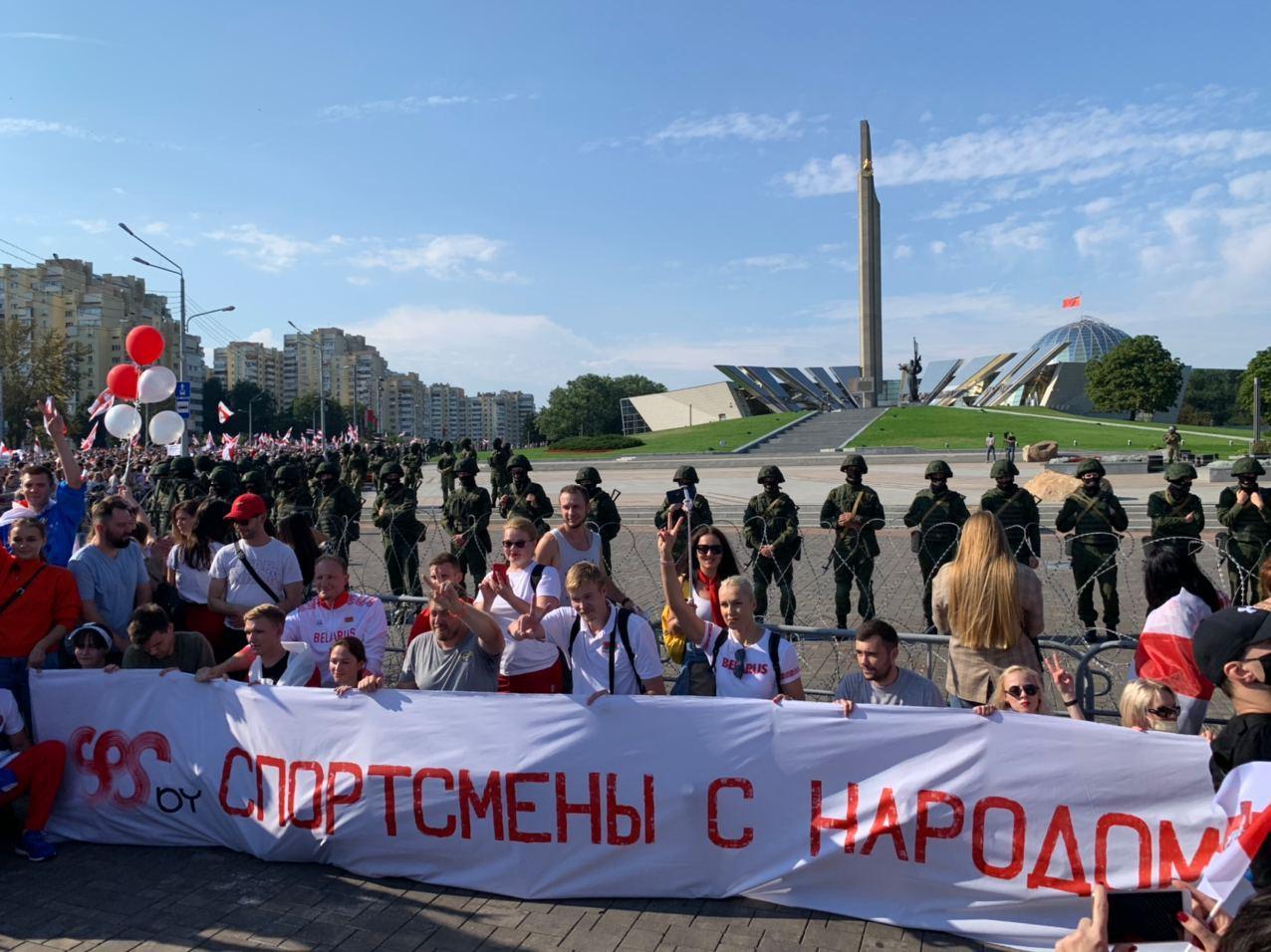 Белорусский ОМОН избил брата Дарьи Домрачевой