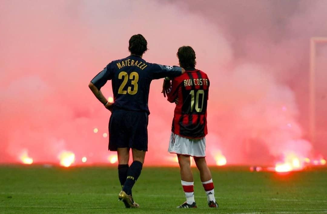 фото, Милан, Интер, болельщики, Руй Кошта, Марко Матерацци, Лига чемпионов УЕФА, видео, серия А Италия