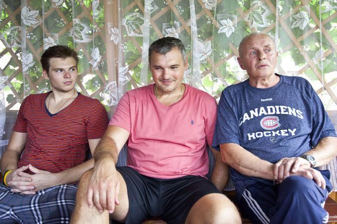 Семья Гальченюков: Алекс, Александр и Николай Александрович.