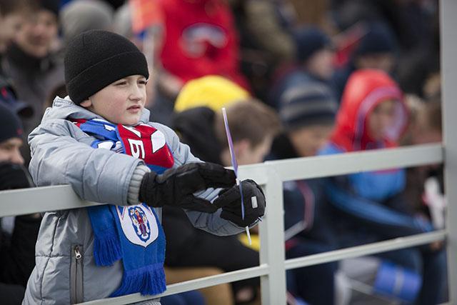 Болельщики у «Минска» преимущественно юные.