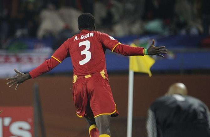 Асамоа Гьян вывел сборную Ганы в четвертьфинал.