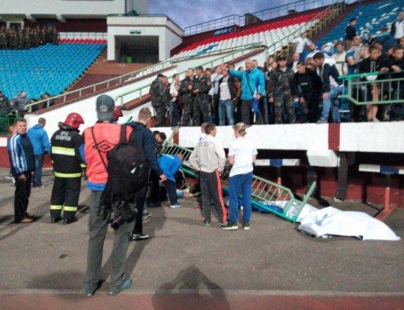 ЧПвконце матча «Витебск»