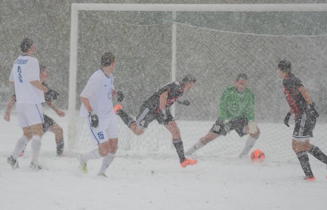 В таких условиях белорусские футболисты сообразили пока самый результативный тур текущего чемпионата