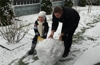 Как белспорт встретил снег
