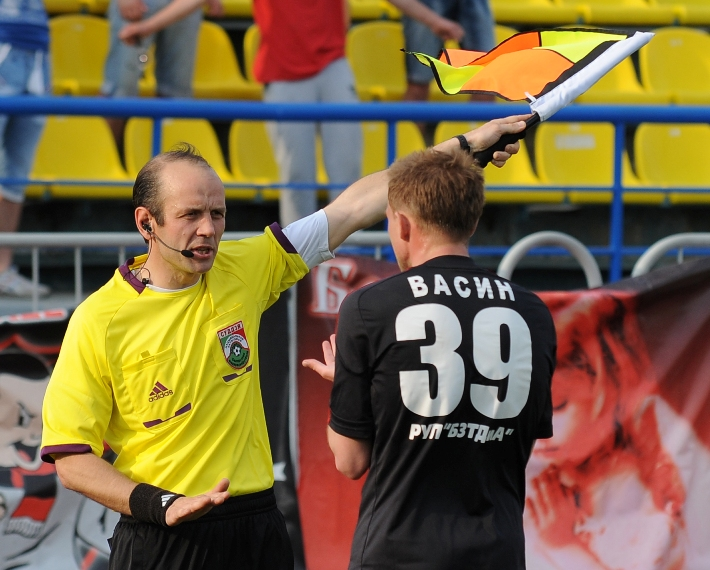 В матче «Белшина» — «Гомель» было зафиксировано сразу два пенальти.