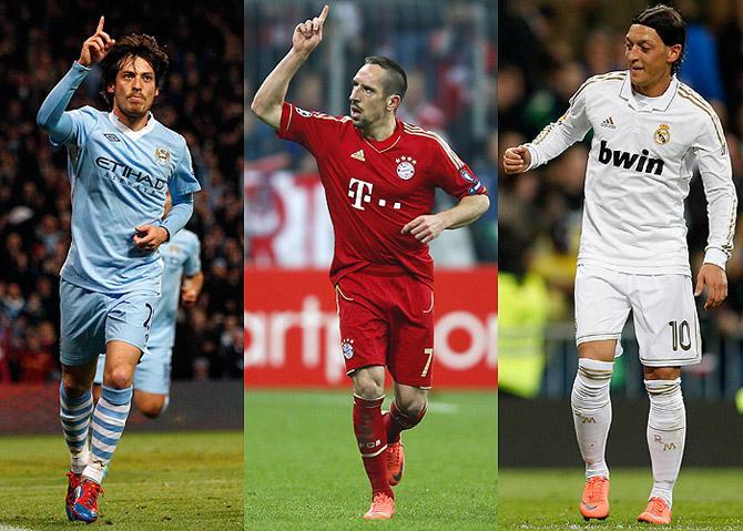 Сильва, Рибери и Озил – лучшие ассистенты сильнейших европейских чемпионатов.