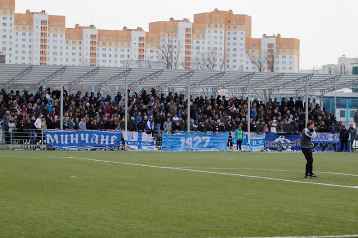 Фанатов «Динамо», как всегда, собралось прилично.