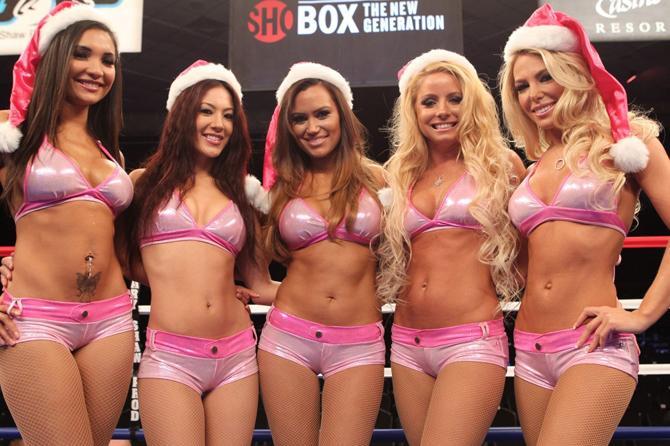 На боксерских рингах празднуют новый год вот так