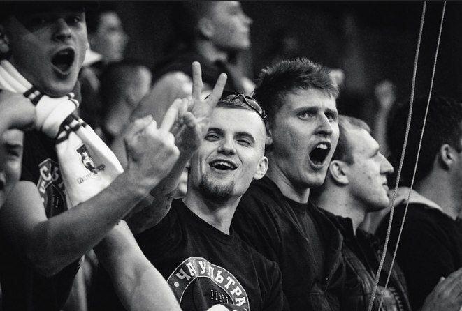 болельщики, Молодечно, сборная Беларуси по футболу