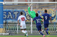 квалификация Евро U-21, видео, сборная Греции U-21, сборная Беларуси U-21, Константинос Галанопулос, Эфтимиос Кулурис