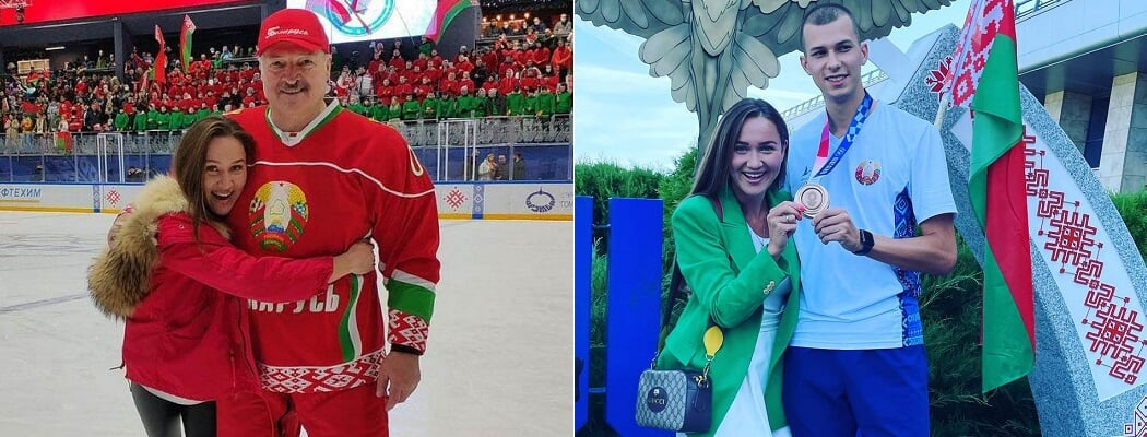 Медалистов ОИ в Минске встречают фрики с митингов за ОМОН – ездят с госфлагами на капотах и считают Недосекова чемпионом