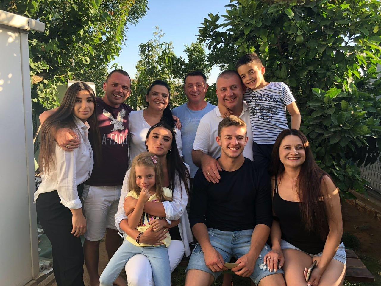 С родственниками в Израиле.