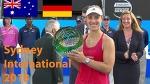 Barty vs Kerber Best rally and Awards ceremony / Sydney International 2018 / Final