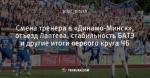Смена тренера в «Динамо-Минск», отъезд Лаптева, стабильность БАТЭ и другие итоги первого круга ЧБ