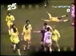 Insane tackle by Eric Cantona against Zakarian