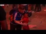 Euro 2016 Portuguese boy hugs crying French fan | Football | BBC News