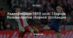 Квалификация ЕВРО 2016. Сборная Польши против сборной Шотландии