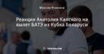 Реакция Анатолия Капского на вылет БАТЭ из Кубка Беларуси