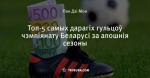 Топ-5 самых дарагіх гульцоў чэмпіянату Беларусі за апошнія сезоны