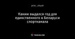 Каким выдался год для единственного в Беларуси спортканала