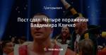 Пост сдал. Четыре поражения Владимира Кличко
