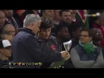 Jose Mourinho has FURIOUS outburst at Manchester United coaching staff during Europa League tie