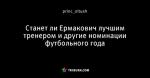 Станет ли Ермакович лучшим тренером и другие номинации футбольного года