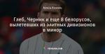 Глеб, Черник и еще 8 белорусов, вылетевших из элитных дивизионов в минор