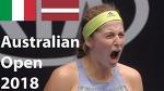 Ostapenko vs Schiavone / Best rally and interview / Australian Open 2018 / Round of 64