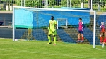 Issa Ndoye reflects a penalty