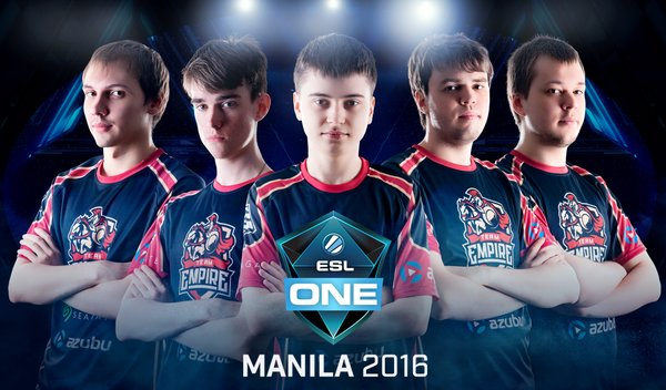 ESL One Manila, Team Empire, Team Secret, EHOME, Complexity, Fnatic, Mineski, Team Liquid, Wings