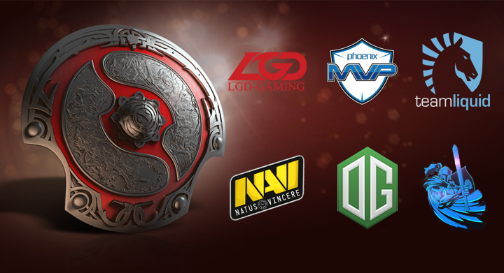 NAVI, The International, PSG.LGD, Newbee, MVP Phoenix, OG, Team Liquid