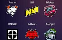NAVI, Virtus.pro, Winstrike, HellRaisers, Extremum, FlyToMoon, Monaco Gambit