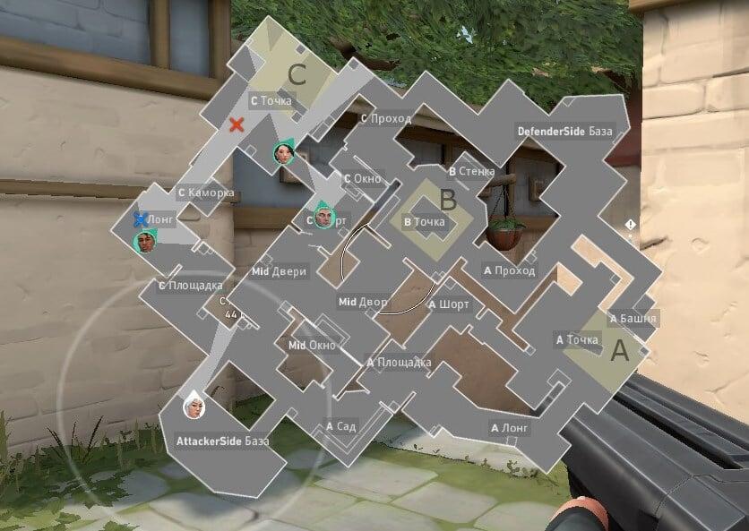 Карта Haven в Valorant, схема, позиции, обозначения и точки