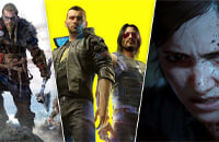 Cyberpunk 2077, The Last of Us 2, Doom Eternal, Ghost of Tsushima, Assassin's Creed Valhalla, Yakuza: Like a Dragon, Valheim, A Plague Tale: Innocence, Hades, Skyrim