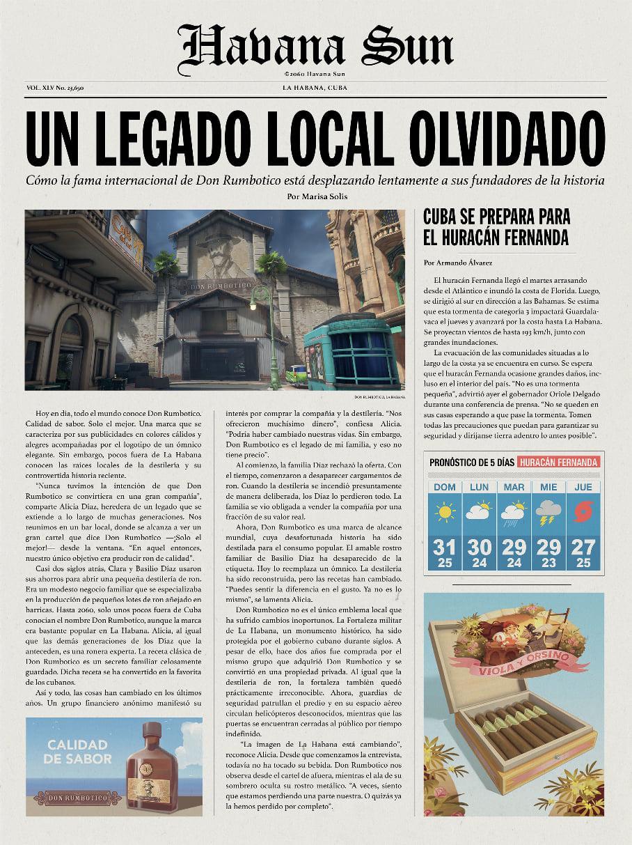 Газетная заметка с сайта Overwatch