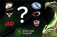 Virtus.pro, Evil Geniuses, OG, Chaos, LGD.FY, The Boston Major