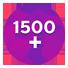 1500 плюсов