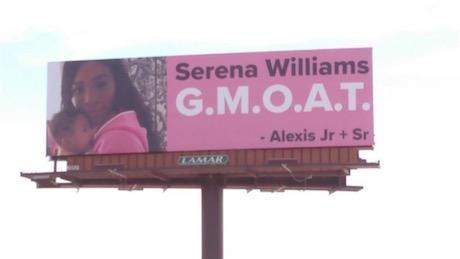 Алексис Оганян разместил на шоссе биллборды в честь Серены Уильямс