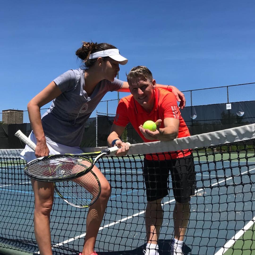 Ана Иванович + Швайнштайгер: роман бесил его коллег по «МЮ», а теперь у них идеальная семья. Она поддается ему в теннис