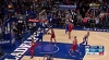 Joel Embiid with one of the day's best dunks
